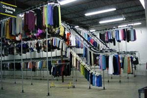 Multi-level Hanging Garment Storage Photo