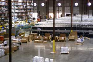 Small Parts Sorter and Packing Stations Photo