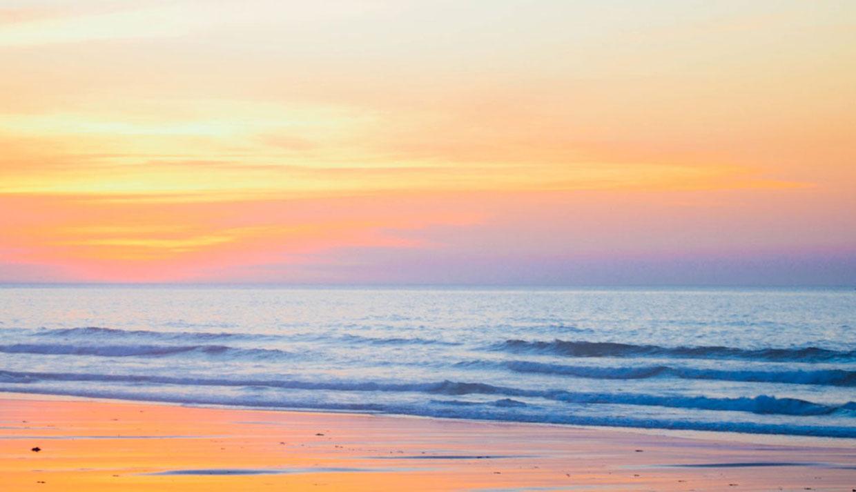 Sunrise on Beach Photo